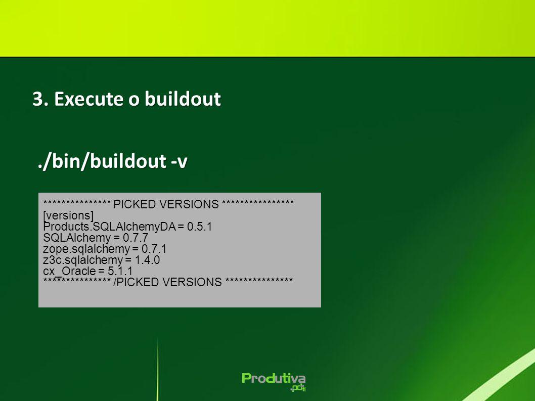 3. Execute o buildout ./bin/buildout -v