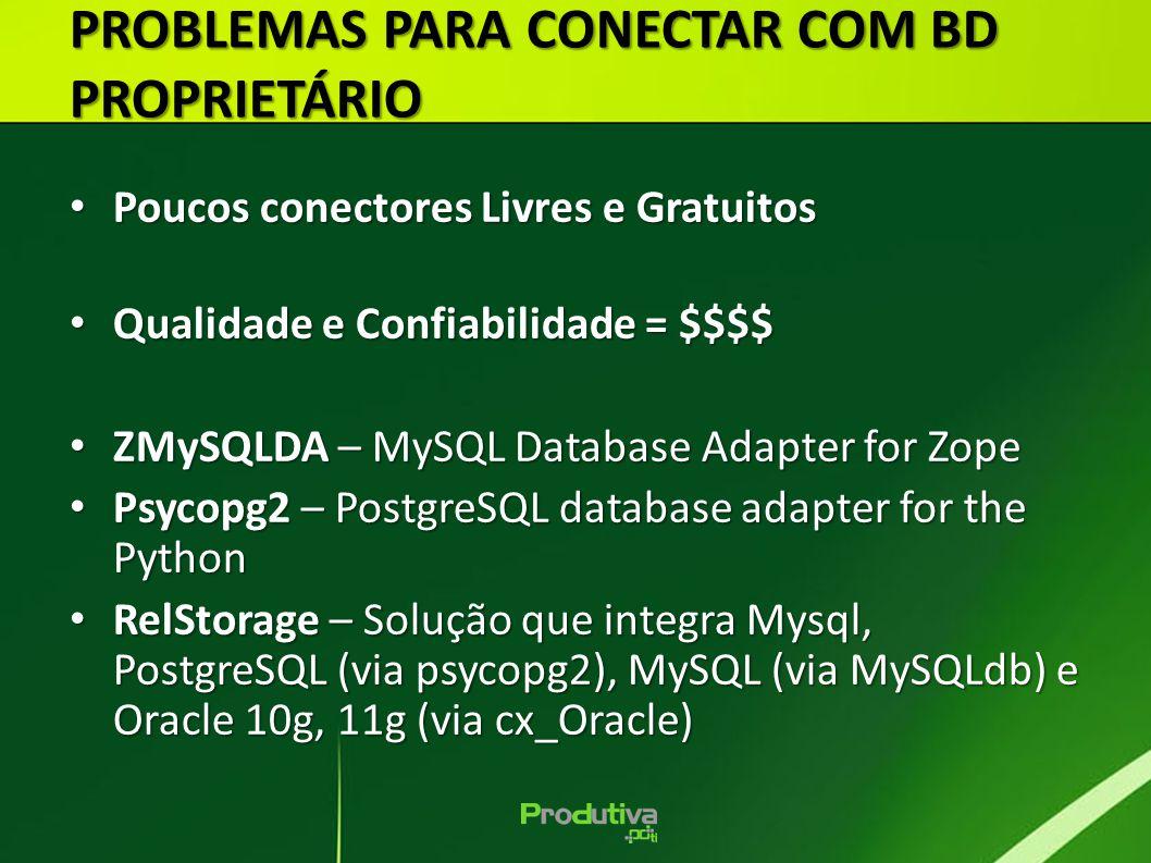 PROBLEMAS PARA CONECTAR COM BD PROPRIETÁRIO