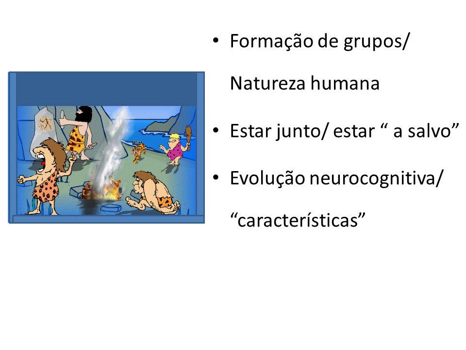 Formação de grupos/ Natureza humana
