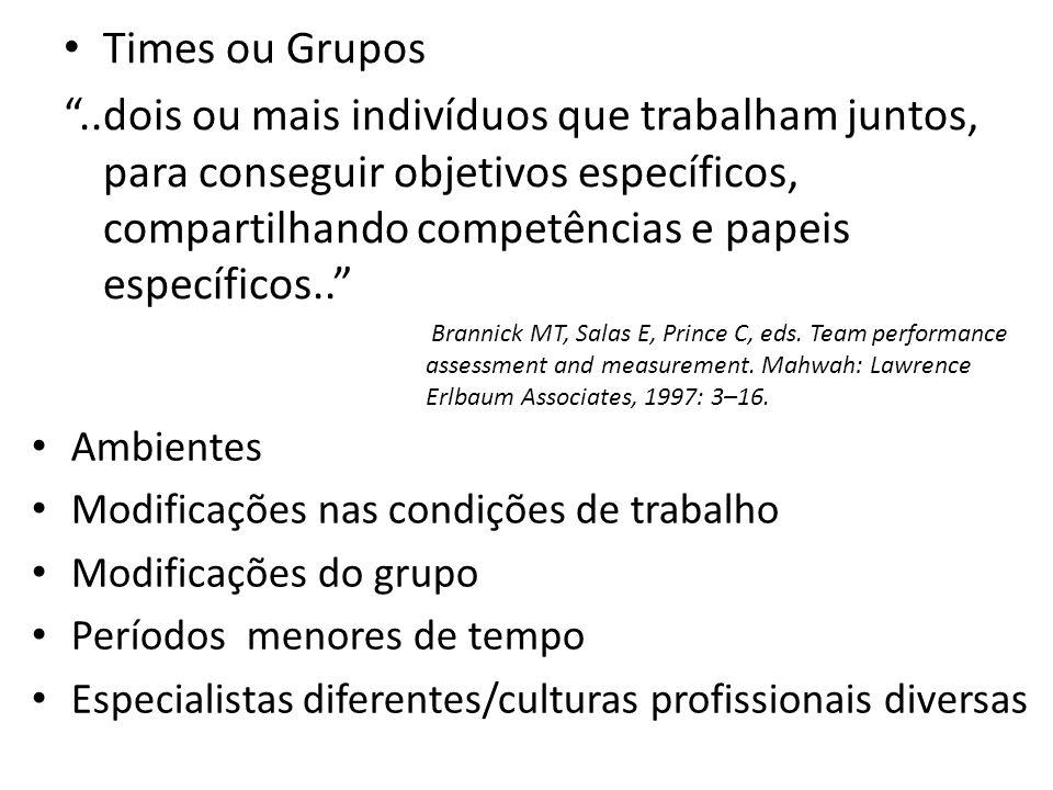 Times ou Grupos