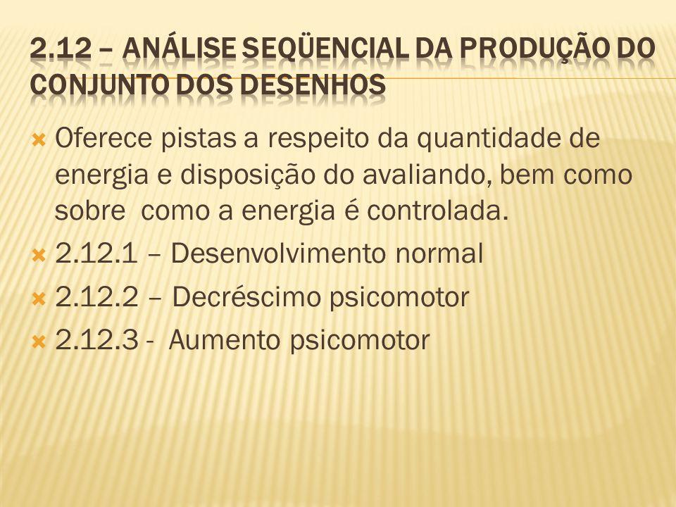 2.12 – Análise seqüencial da produção do conjunto dos desenhos