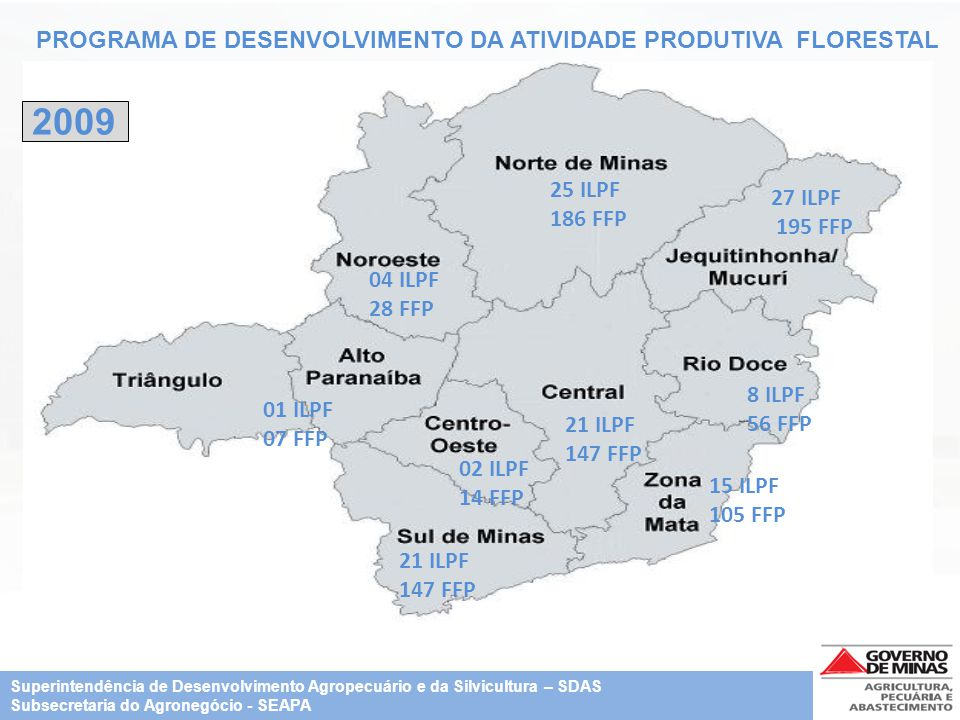 2009 PROGRAMA DE DESENVOLVIMENTO DA ATIVIDADE PRODUTIVA FLORESTAL