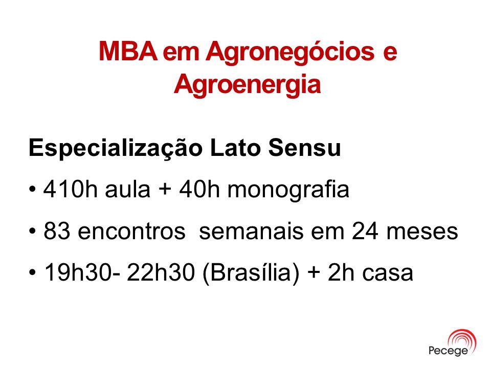 MBA em Agronegócios e Agroenergia