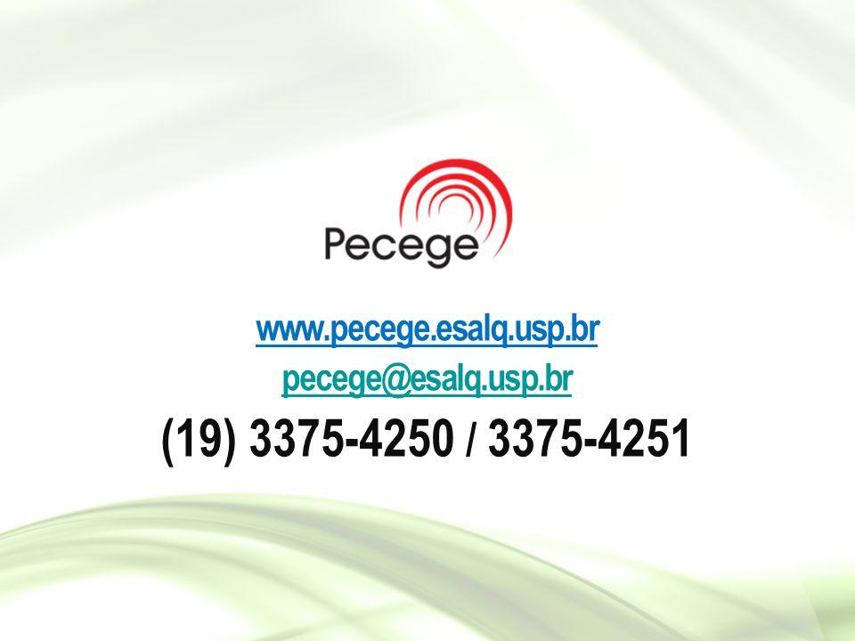 www.pecege.esalq.usp.br pecege@esalq.usp.br (19) 3375-4250 / 3375-4251