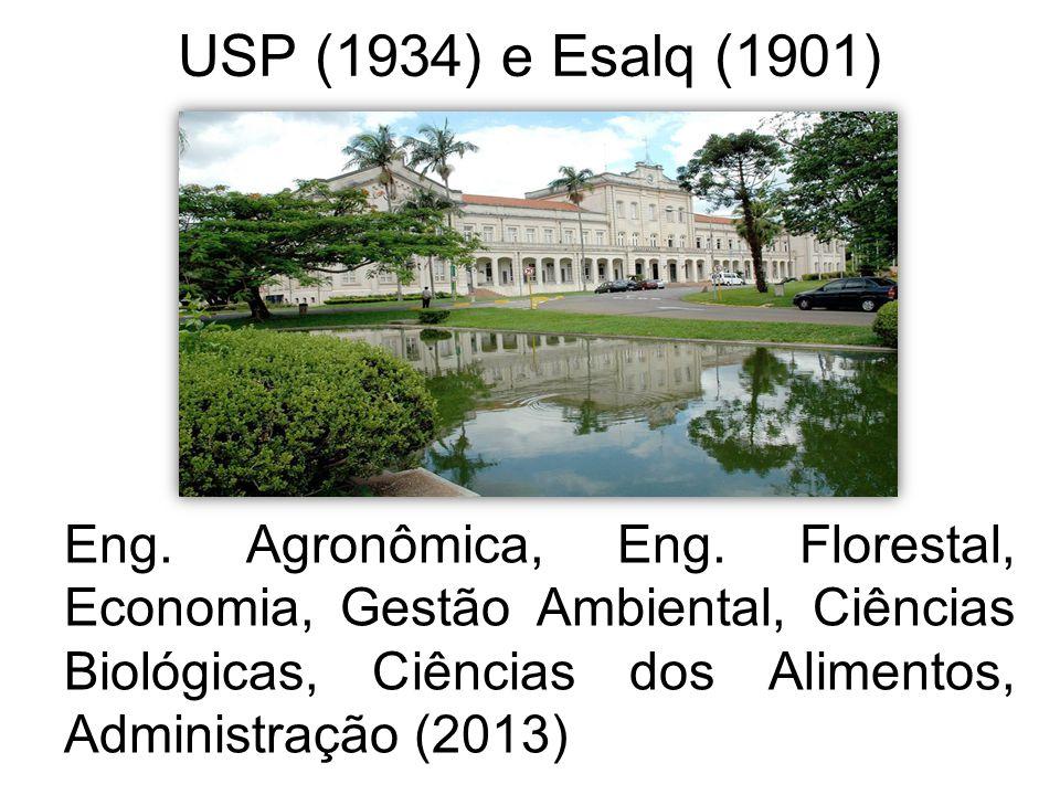 USP (1934) e Esalq (1901)