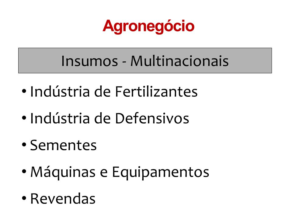 Insumos - Multinacionais