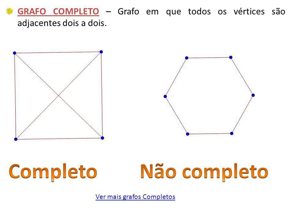 Ver mais grafos Completos