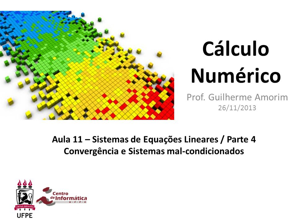 Prof. Guilherme Amorim 26/11/2013