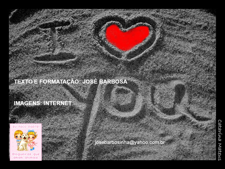 TEXTO E FORMATAÇÃO: JOSÉ BARBOSA