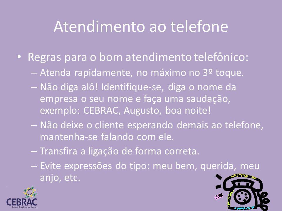 Atendimento ao telefone