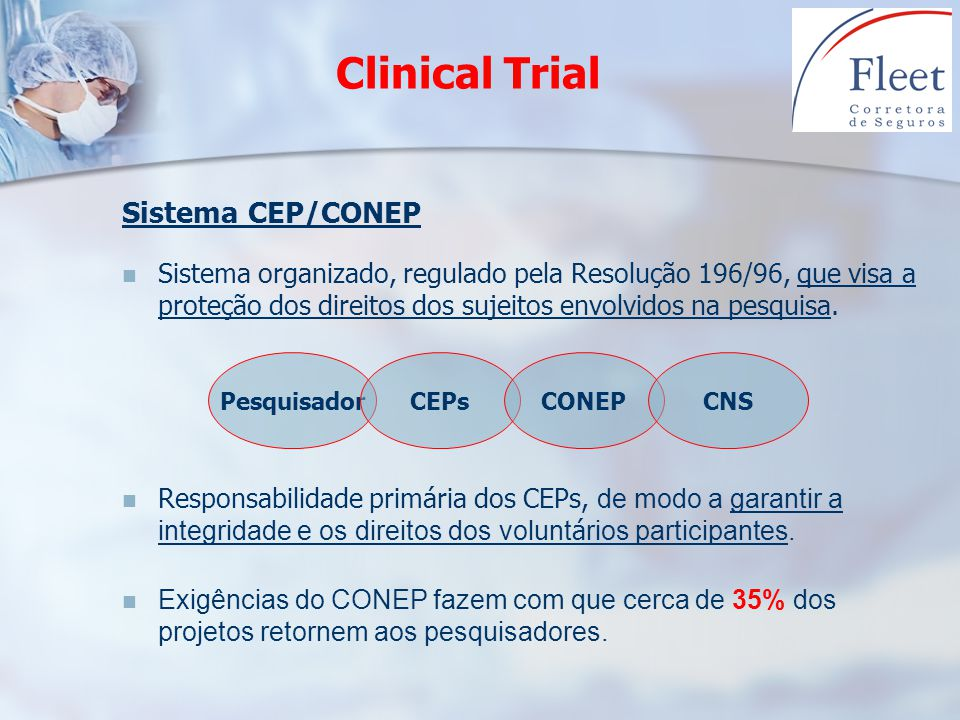 Clinical Trial Sistema CEP/CONEP