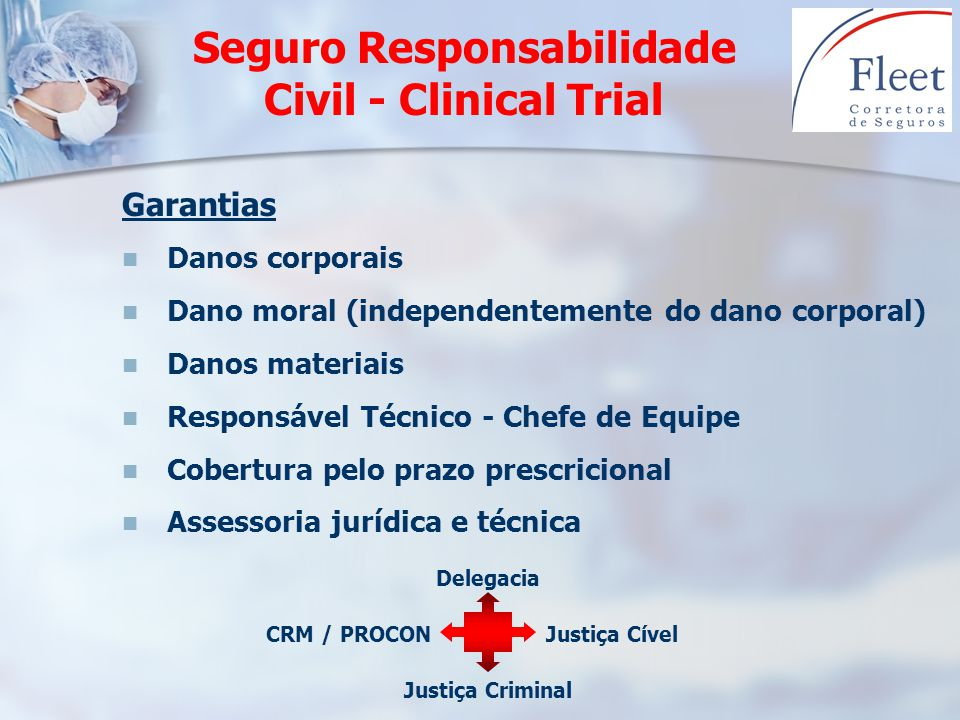 Seguro Responsabilidade Civil - Clinical Trial