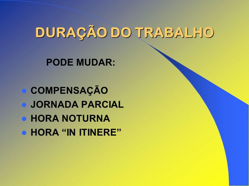 DURAÇÃO DO TRABALHO PODE MUDAR: COMPENSAÇÃO JORNADA PARCIAL