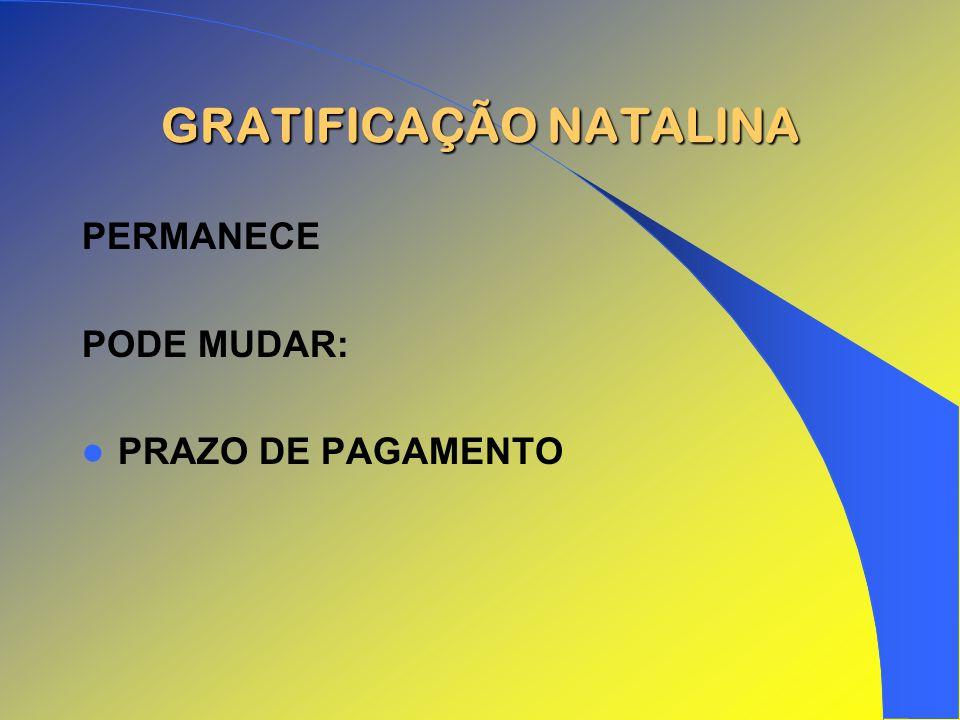 GRATIFICAÇÃO NATALINA