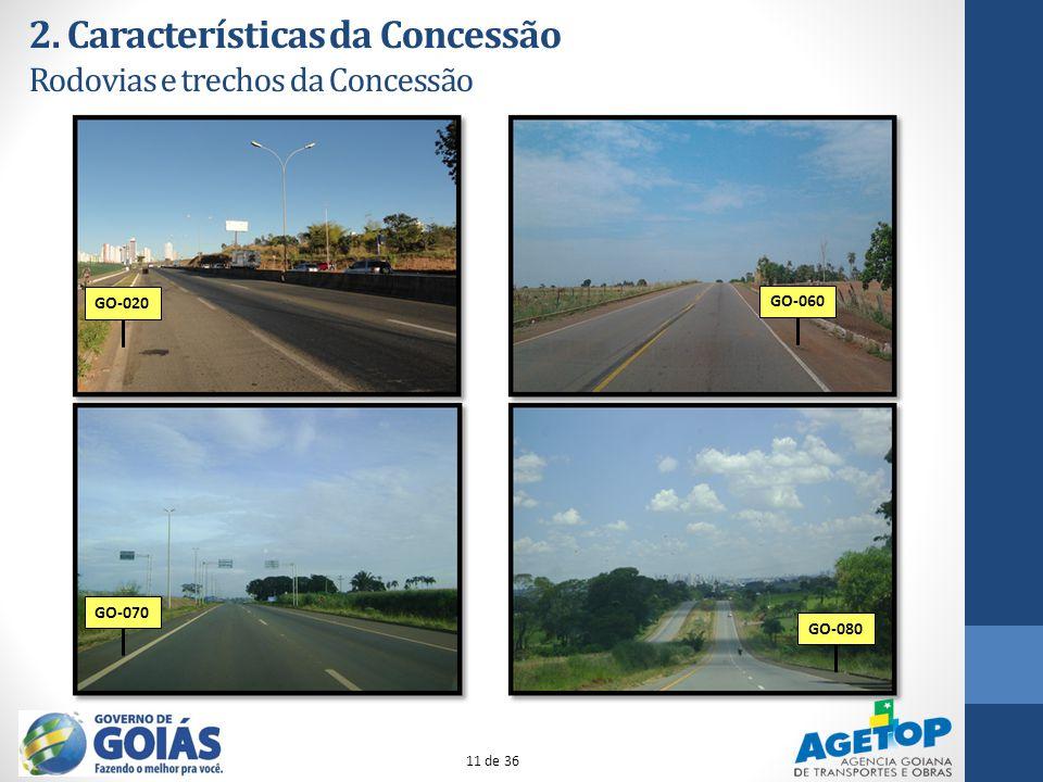 2. Características da Concessão Rodovias e trechos da Concessão