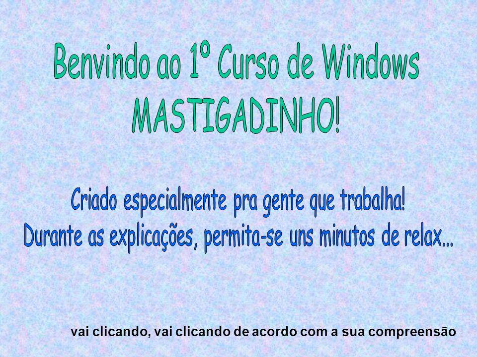 Benvindo ao 1º Curso de Windows MASTIGADINHO!