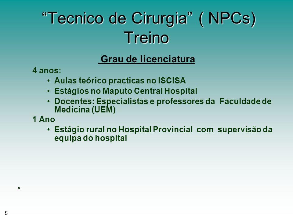 Tecnico de Cirurgia ( NPCs) Treino