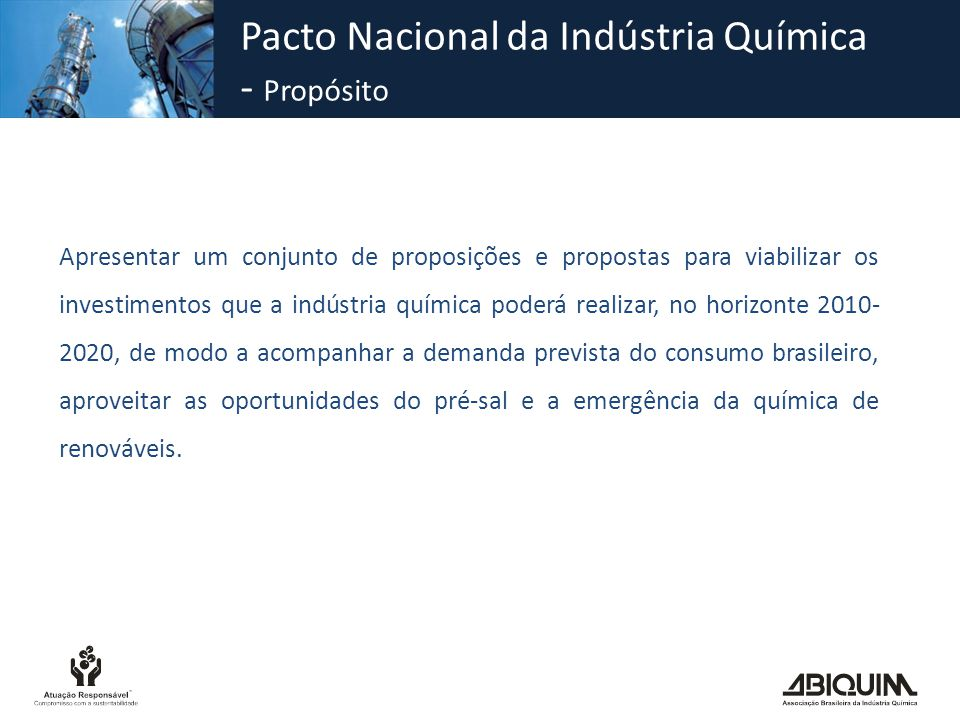 Pacto Nacional da Indústria Química - Propósito