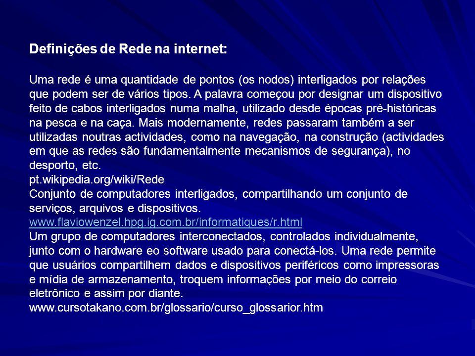 Definições de Rede na internet: