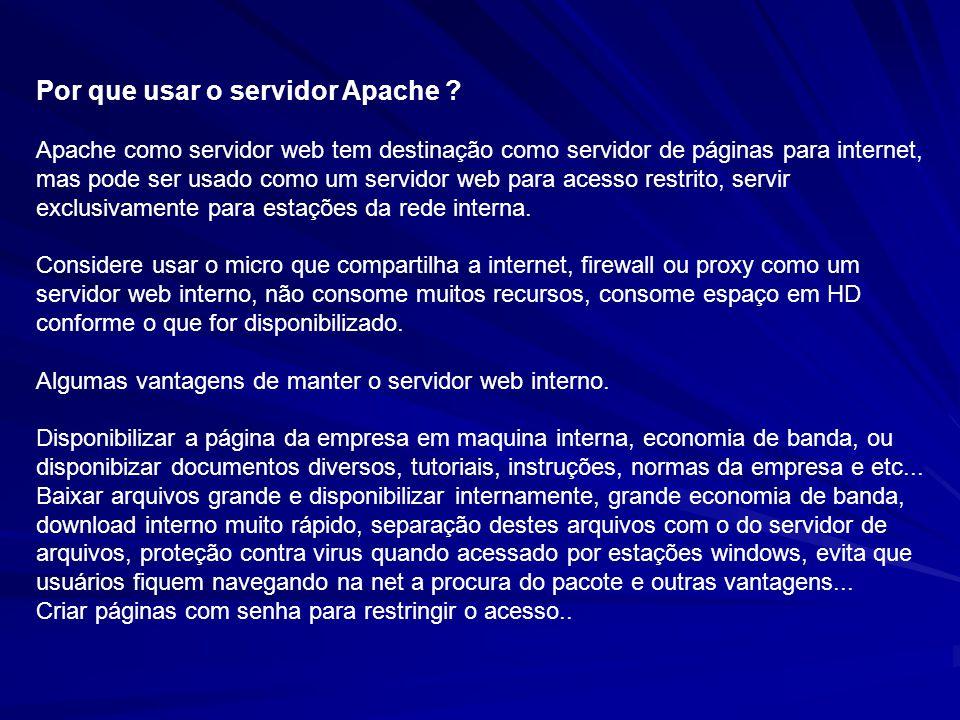 Por que usar o servidor Apache