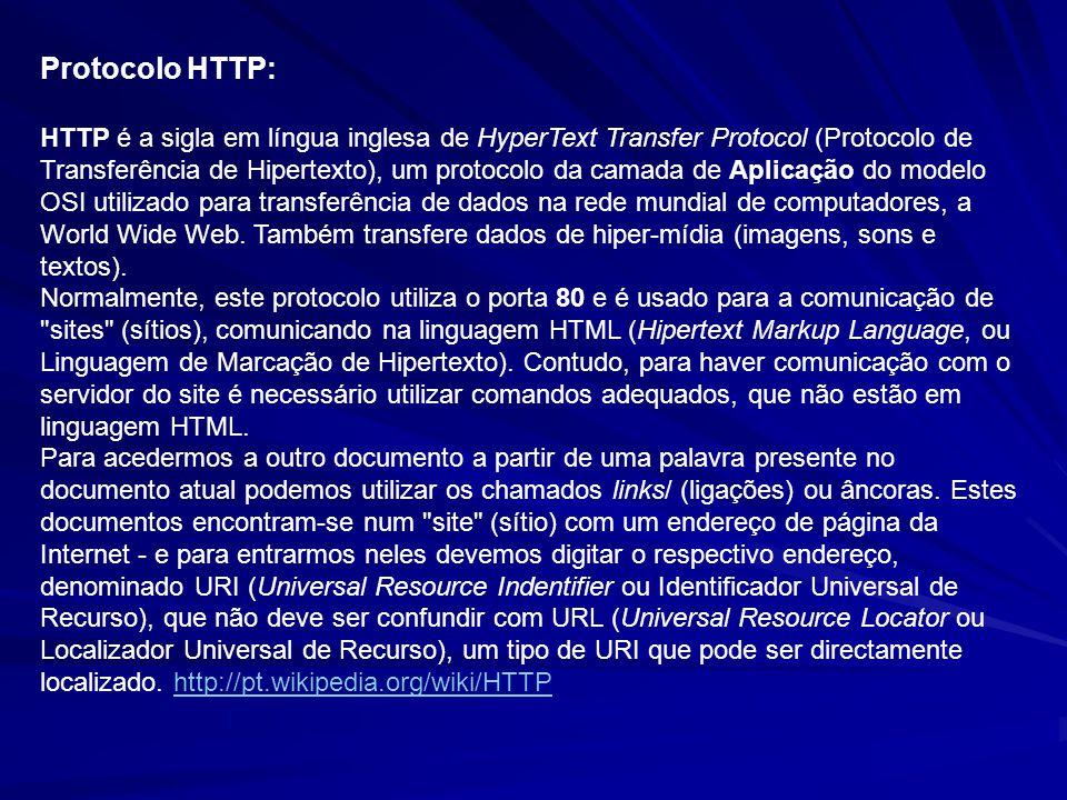 Protocolo HTTP: