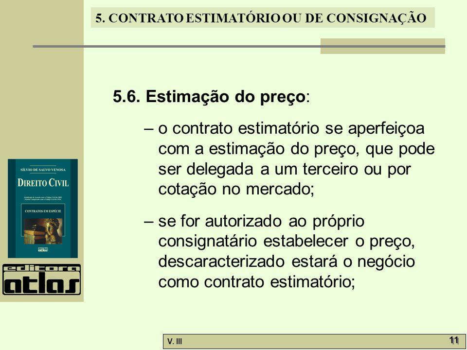 5.6. Estimação do preço: