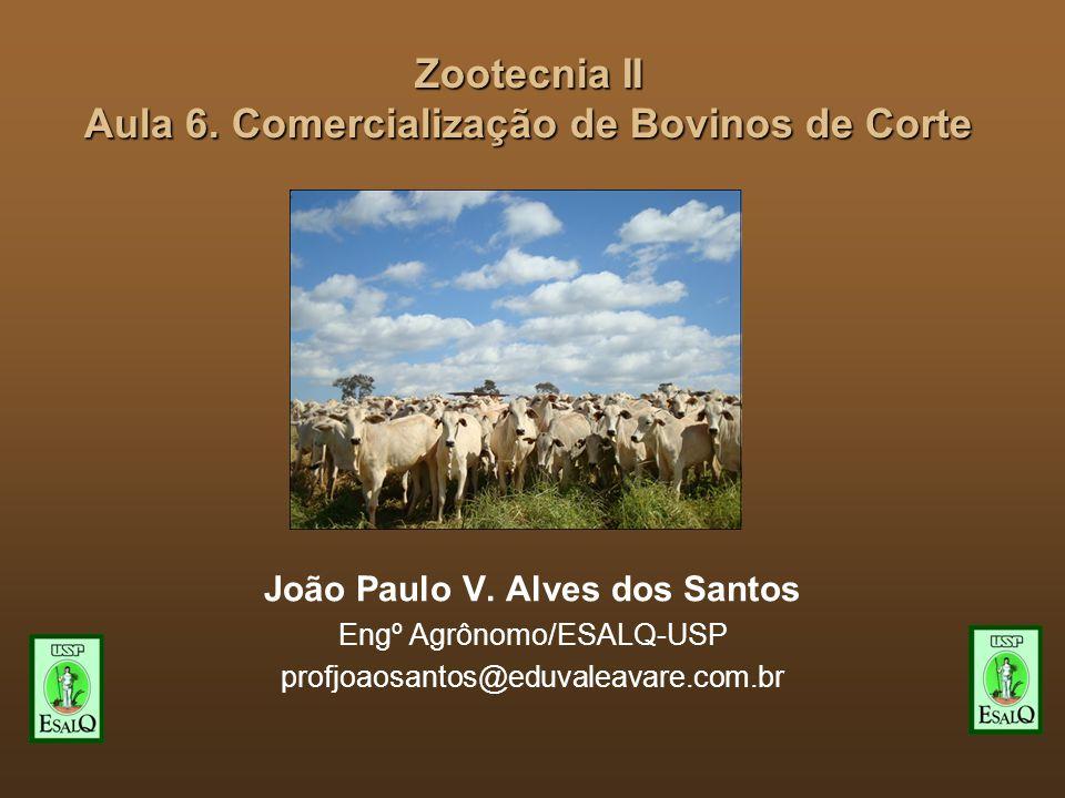 Zootecnia II Aula 6. Comercialização de Bovinos de Corte