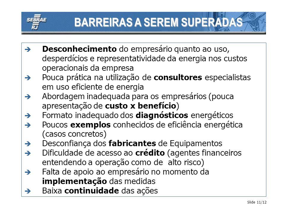 BARREIRAS A SEREM SUPERADAS