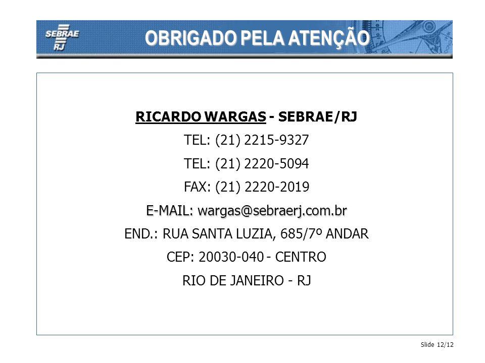 RICARDO WARGAS - SEBRAE/RJ