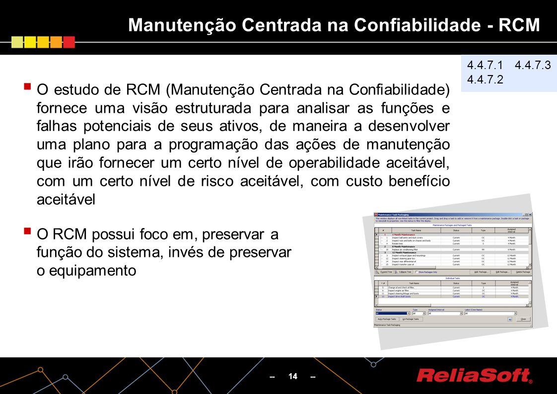 Manutenção Centrada na Confiabilidade - RCM
