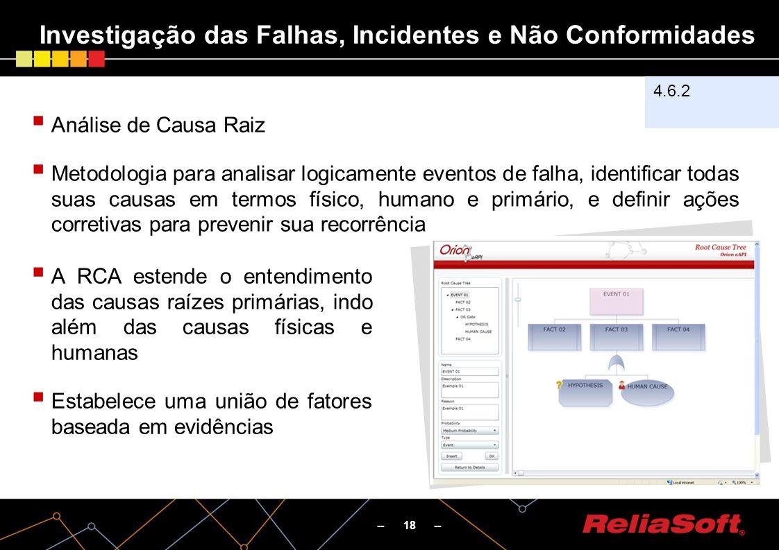 Investigação das Falhas, Incidentes e Não Conformidades