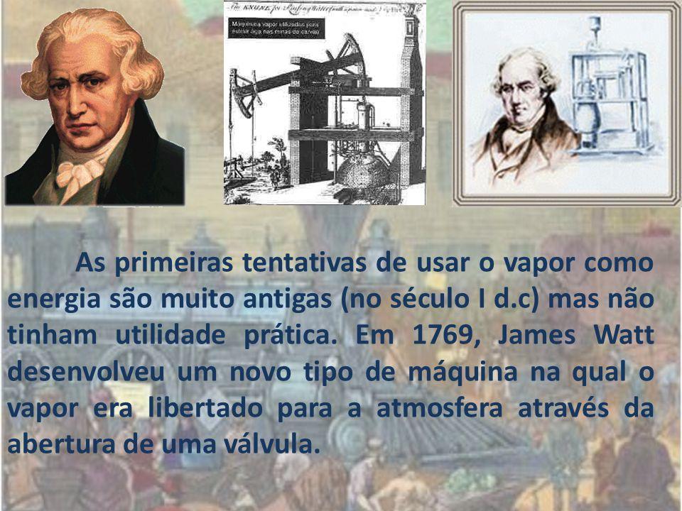 As primeiras tentativas de usar o vapor como energia são muito antigas (no século I d.c) mas não tinham utilidade prática.