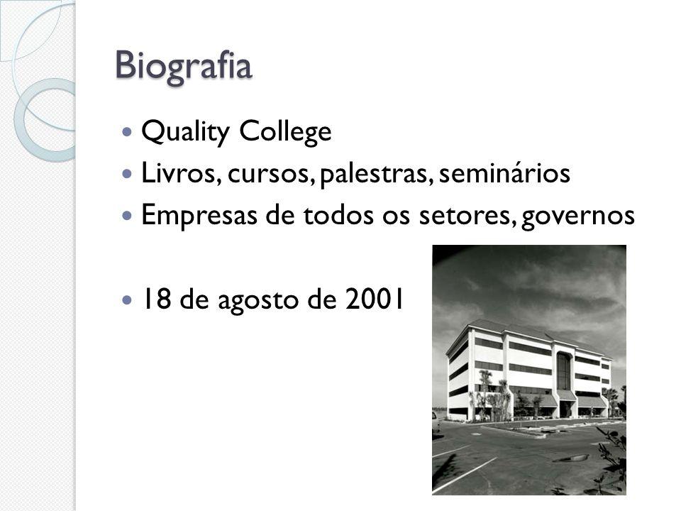 Biografia Quality College Livros, cursos, palestras, seminários