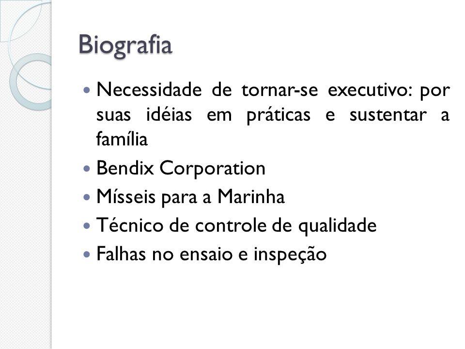Biografia Necessidade de tornar-se executivo: por suas idéias em práticas e sustentar a família. Bendix Corporation.