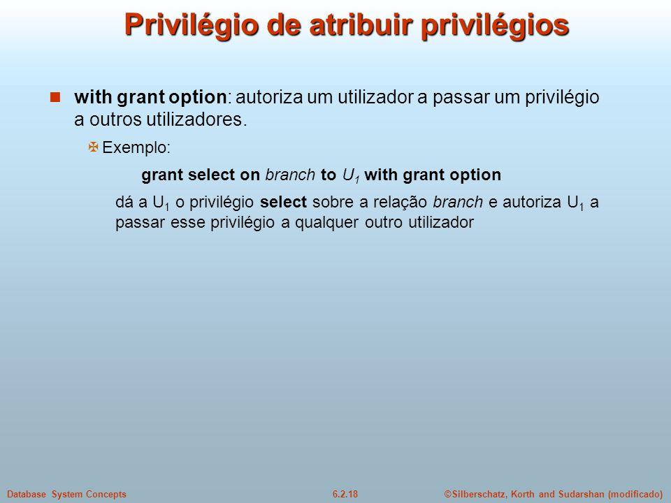 Privilégio de atribuir privilégios