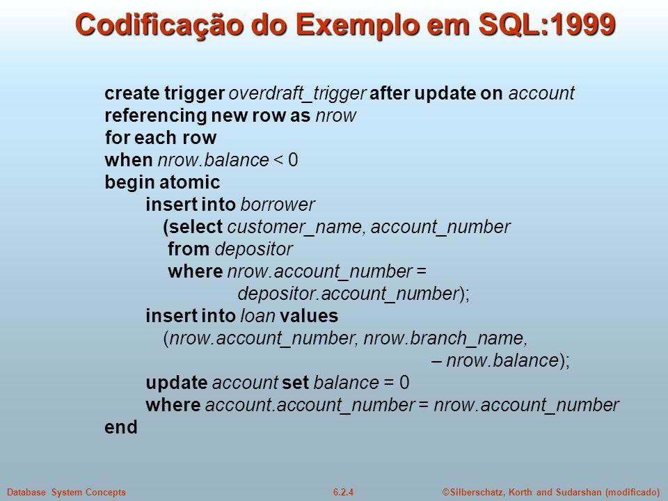 Codificação do Exemplo em SQL:1999