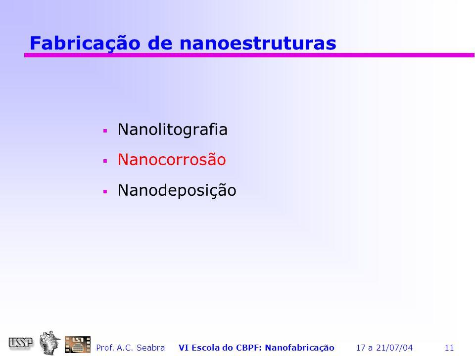 Fabricação de nanoestruturas