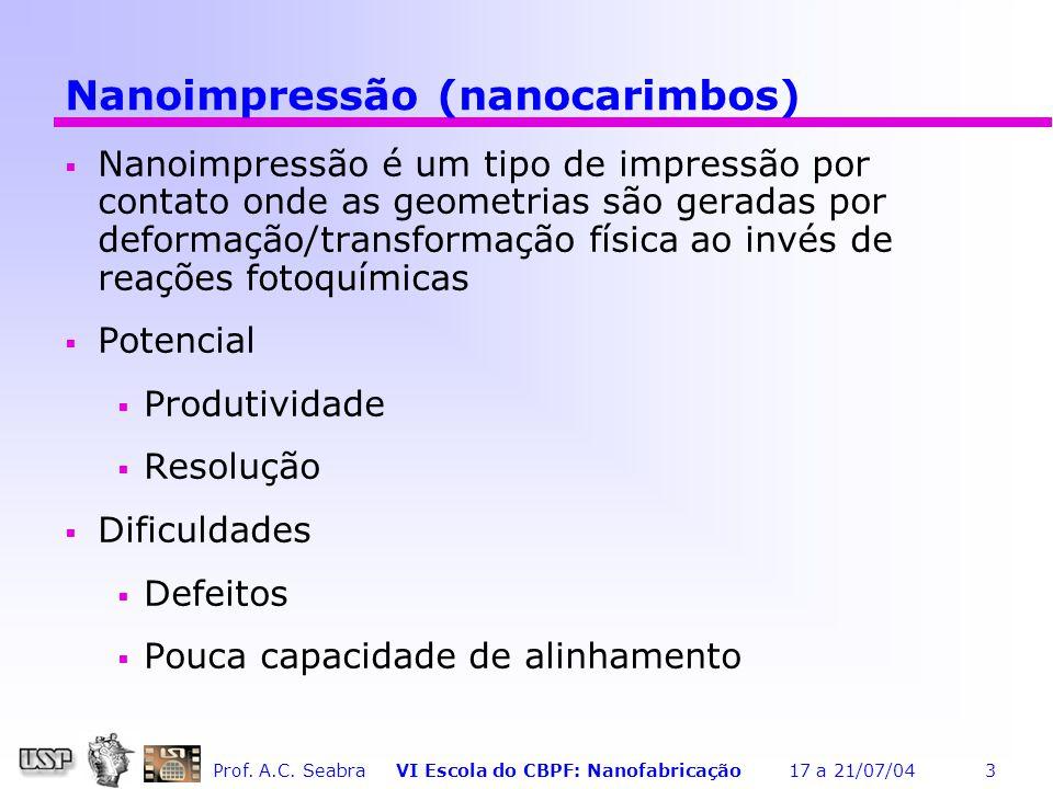 Nanoimpressão (nanocarimbos)