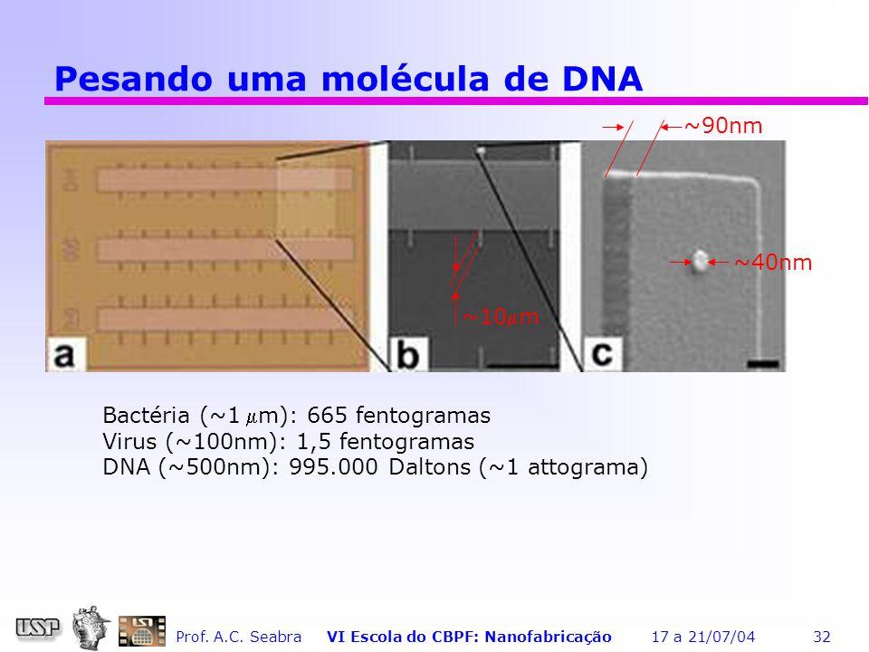 Pesando uma molécula de DNA