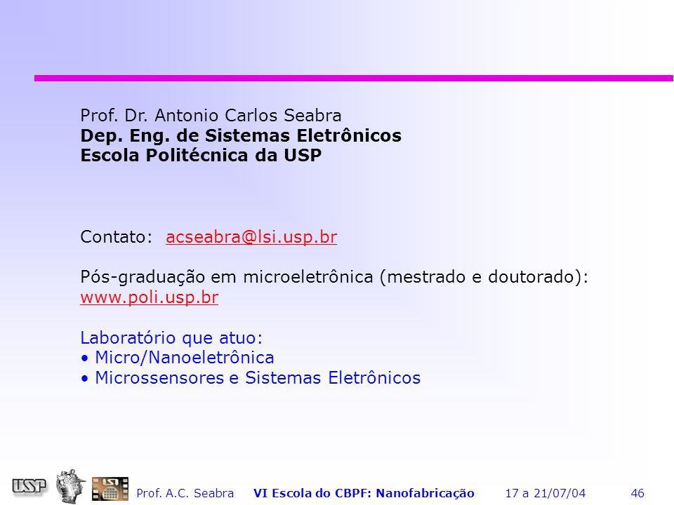 Prof. Dr. Antonio Carlos Seabra
