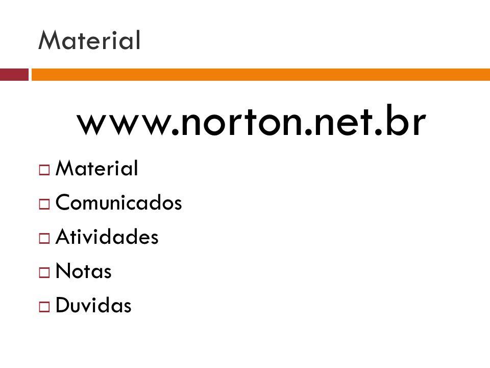 www.norton.net.br Material Material Comunicados Atividades Notas