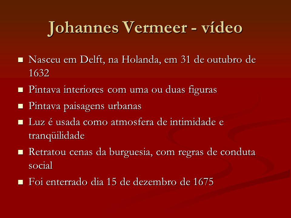 Johannes Vermeer - vídeo