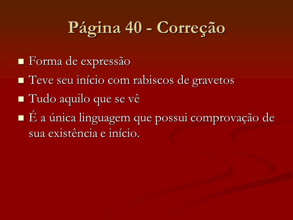 Página 40 - Correção Forma de expressão