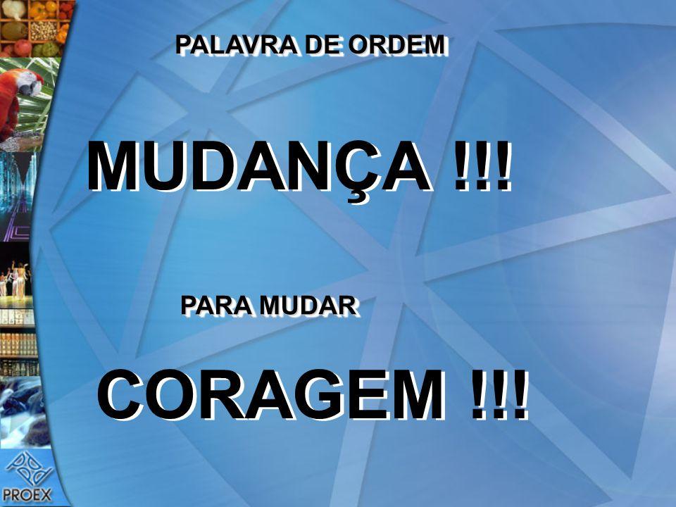 PALAVRA DE ORDEM MUDANÇA !!! PARA MUDAR CORAGEM !!!