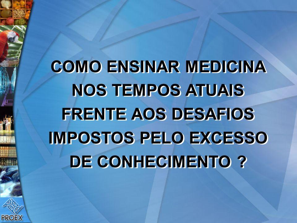 COMO ENSINAR MEDICINA NOS TEMPOS ATUAIS FRENTE AOS DESAFIOS IMPOSTOS PELO EXCESSO DE CONHECIMENTO