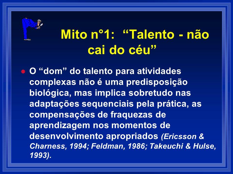 Mito n°1: Talento - não cai do céu