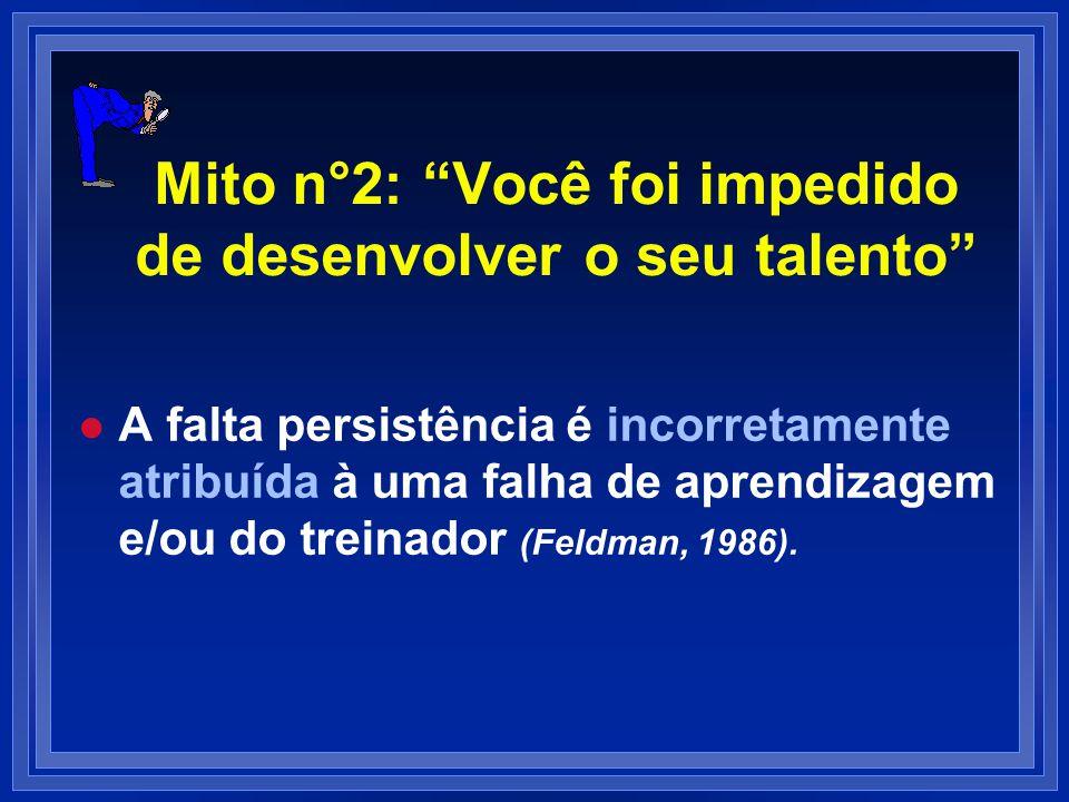 Mito n°2: Você foi impedido de desenvolver o seu talento