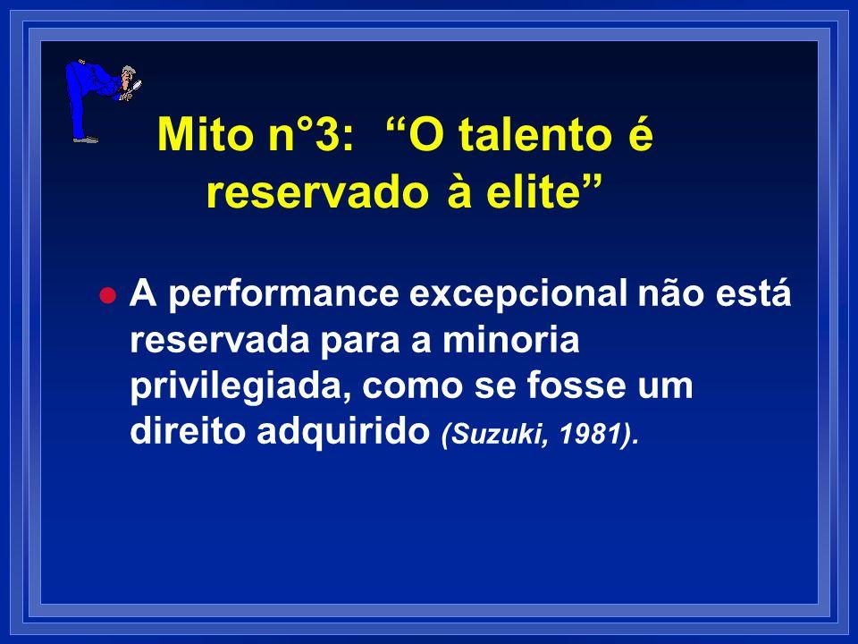Mito n°3: O talento é reservado à elite