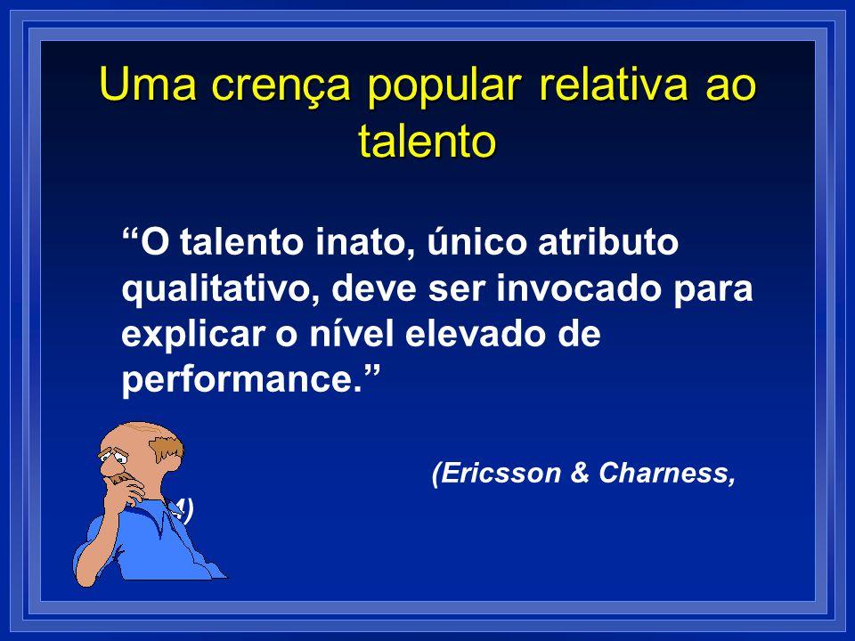 Uma crença popular relativa ao talento