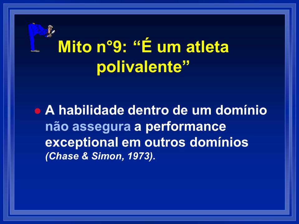 Mito n°9: É um atleta polivalente